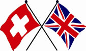 UK and Swiss flags